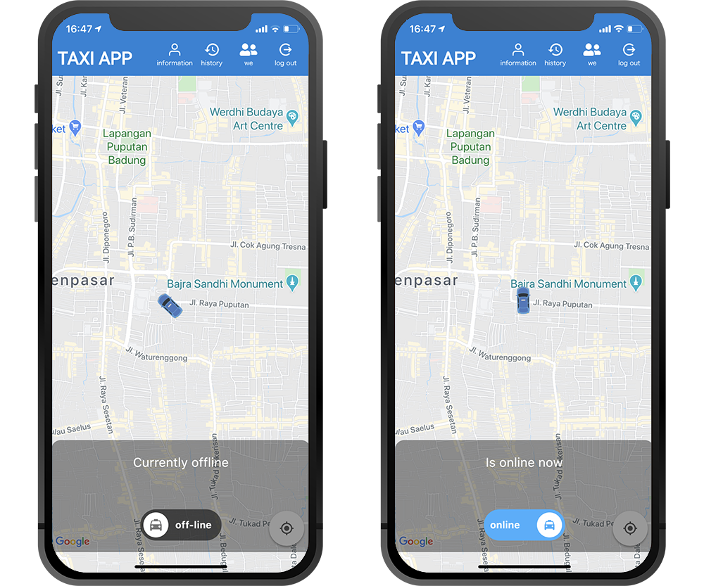 App for drivers